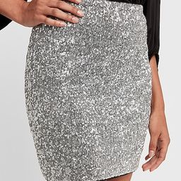high waisted all-over sequin mini skirt | Express