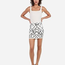high waisted sequin mini skirt | Express