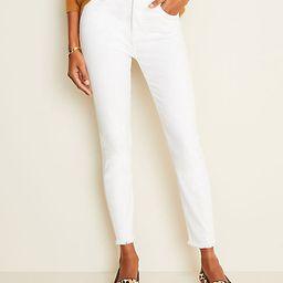 Petite High Waist Frayed Hem Skinny Jeans | Ann Taylor | Ann Taylor (US)