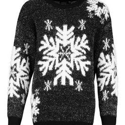 Premium Feather Knit Snowflake Christmas Jumper   Boohoo.com (US & CA)