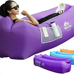 WEKAPO Inflatable Lounger Air Sofa Hammock-Portable,Water Proof& Anti-Air Leaking Design-Ideal Co...   Amazon (US)
