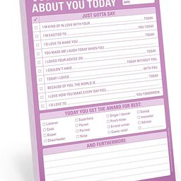 Knock Knock What I Love About You Checklist Note Pad, 6 x 9-inches   Amazon (US)