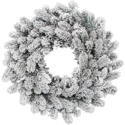 "24"" King Flock® Wreath Unlit   King of Christmas"