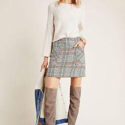 Bijou Plaid Knit Mini Skirt | Anthropologie (US)