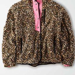 AE Fleece Leopard Print Jacket | American Eagle Outfitters (US & CA)