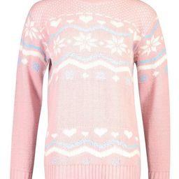 Christmas Fairisle Knitted Jumper   Boohoo.com (US & CA)