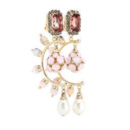 Crystal drop clip-on earrings | Mytheresa (US)