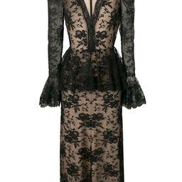 Alexander McQueenpeplum-style lace dress | Farfetch (US)