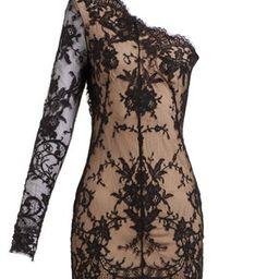 Asymmetric sarabande-lace mini dress | Matchesfashion (Global)