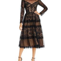Lace Fit-and-Flare Dress | Bloomingdale's (US)