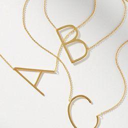 Block Letter Monogram Necklace   Anthropologie (US)