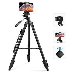 "Fotopro 59"" Camera Tripod, Aluminum Phone Tripod with Bluetooth Remote, GoPro Mount & Smartphone ... | Amazon (US)"