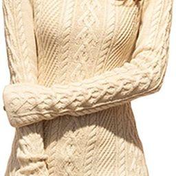 Women Polo Neck Knit Stretchable Elasticity Long Slim Sweater   Amazon (US)