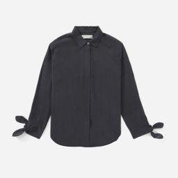 The Washable Silk Tie-Cuff Shirt   Everlane