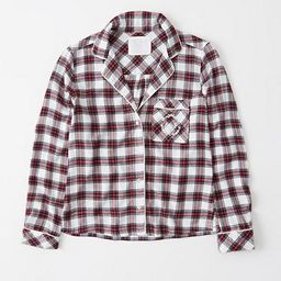 Flannel Sleep Shirt | Abercrombie & Fitch US & UK