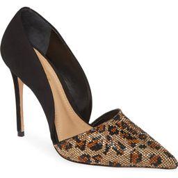 Schutz Totia Crystal Leopard Pointed Toe Pump (Women) | Nordstrom | Nordstrom