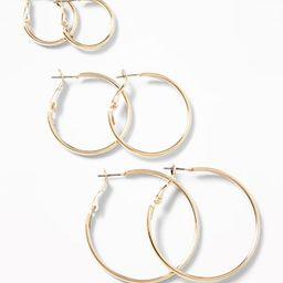 Hoop Earrings 3-Pack for Women | Old Navy (US)