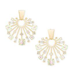 Fabia Small Gold Statement Earrings in Dichroic Glass | Kendra Scott
