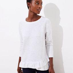 Flecked Peplum Sweatshirt | LOFT | LOFT