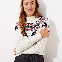 Reindeer Fairisle Sweater | LOFT | LOFT