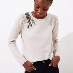 Crystal Flower Sweater | LOFT | LOFT
