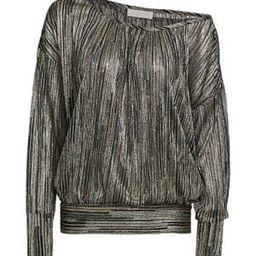 Dori Long-Sleeve Metallic Top | Saks Fifth Avenue