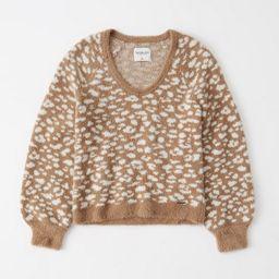 Eyelash V-Neck Sweater | Abercrombie & Fitch US & UK
