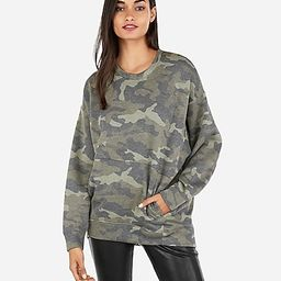 oversized camo sweatshirt   Express
