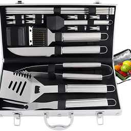 ROMANTICIST 21pc Heavy Duty BBQ Grill Tool Set with Cooler Bag - Great Grill Gift Set for Men Wom...   Amazon (US)