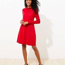 Ruffle Pointelle Sweater Dress | LOFT | LOFT