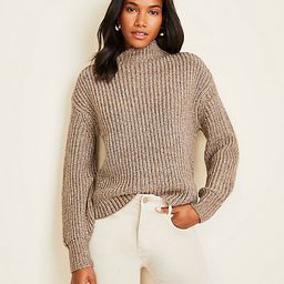 Shimmer Ribbed Mock Neck Sweater   Ann Taylor   Ann Taylor (US)