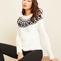 Jeweled Fairisle Sweater   Ann Taylor   Ann Taylor (US)