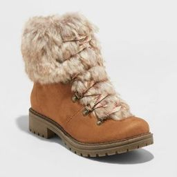 Women's Lilliana Microsuede Faux Fur Lace-Up Boots - Universal Thread™ | Target