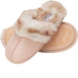 Comfy Faux Fur Womens House Slipper Scuff Memory Foam Slip On Anti-Skid Sole   Amazon (US)