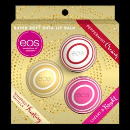 eos Holiday Lip Balm Sphere | Peppermint Cream, Whipped Vanilla Frosting and Cherry and Bright | ... | Walmart (US)