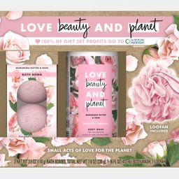 ($15 Value) Love Beauty and Planet 4-pc Murumuru Butter & Rose Holiday Gift Set (2 x Bath Bombs, ... | Walmart (US)