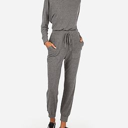 cozy long sleeve jumpsuit   Express