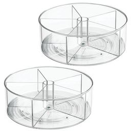 mDesign Divided Lazy Susan Turntable Storage Tray   Target