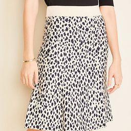 Cheetah Print Sweater Skirt   Ann Taylor   Ann Taylor (US)