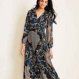 Scroll Pleated Wrap Dress   Ann Taylor   Ann Taylor (US)