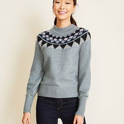 Mock Neck Fairisle Sweater   Ann Taylor   Ann Taylor (US)