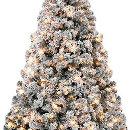 Best Choice Products 7.5ft Pre-Lit Snow Flocked Artificial Christmas Pine Tree Holiday Decor w/ 5...   Amazon (US)