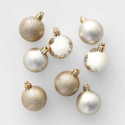 24ct 40mm Christmas Ornament Set Champagne - Wondershop™   Target