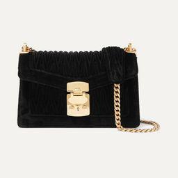 Confidential matelassé velvet shoulder bag | Net-a-Porter (US)