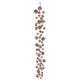6ft. Rose Gold & Silver Ball Ornament Garland by Ashland® | Michaels Stores