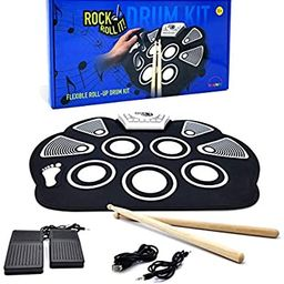 MukikiM Rock And Roll It - Drum. Flexible, Completely Portable, battery OR USB powered, 2 Drum St... | Amazon (US)