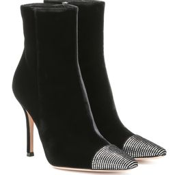 Embellished velvet ankle boots | Mytheresa (US)