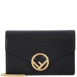 Wallet on Chain leather shoulder bag | Mytheresa (US)