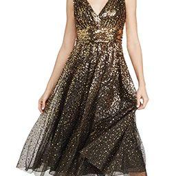 V Neck Degrade Sequin Gown | Shopbop