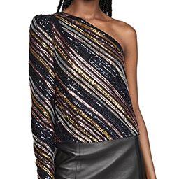 Sequin Stripe Asymmetric Top | Shopbop